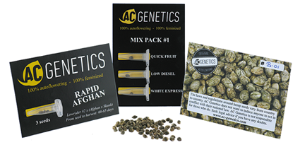 AC Genetics packaging
